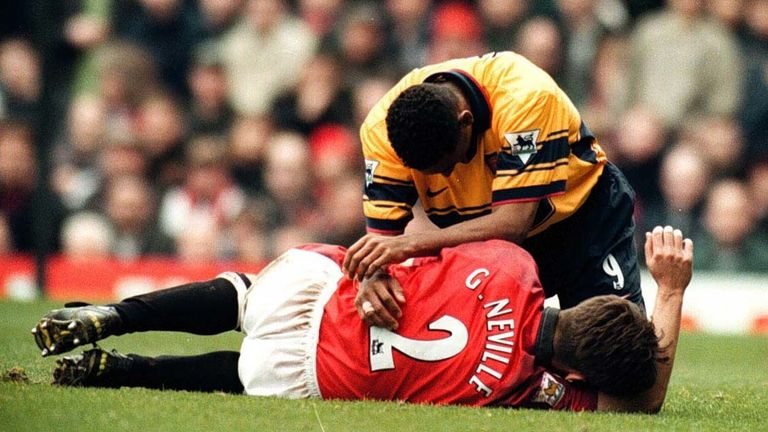 Anelka played in some classic encounters between Arsenal and Man Utd