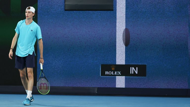 The Australian Open has been using HawkEye technology to make calls in-time