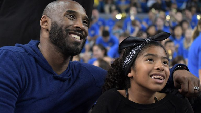 Kobe Bryant and his daughter Gianna pictured in 2017