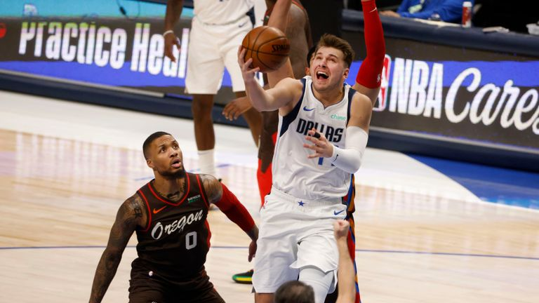 Despite 44 points from Luka Doncic, Dallas fell to a 121-118 defeat at the hands of Portland.