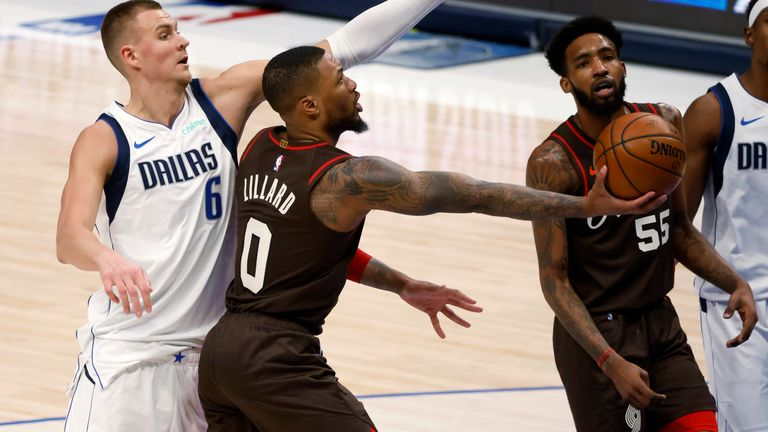 Highlights of the Portland Trail Blazers against the Dallas Mavericks in Week 8 of the NBA.
