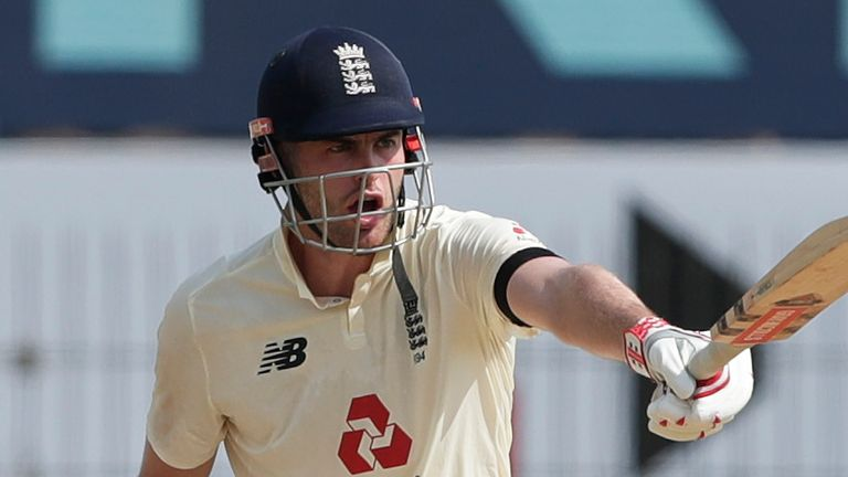 Sibley showed he is learning as a Test player as he played on the front foot more regularly  (Pic credit: BCCI)