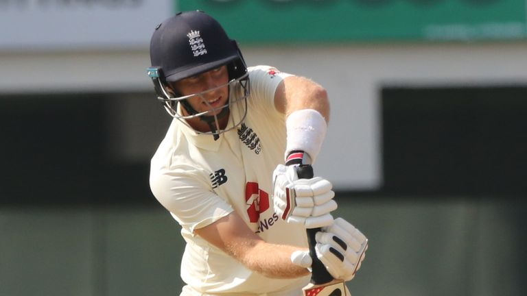 Root battled in England's second innings before falling to Axar Patel (Pic credit - BCCI)