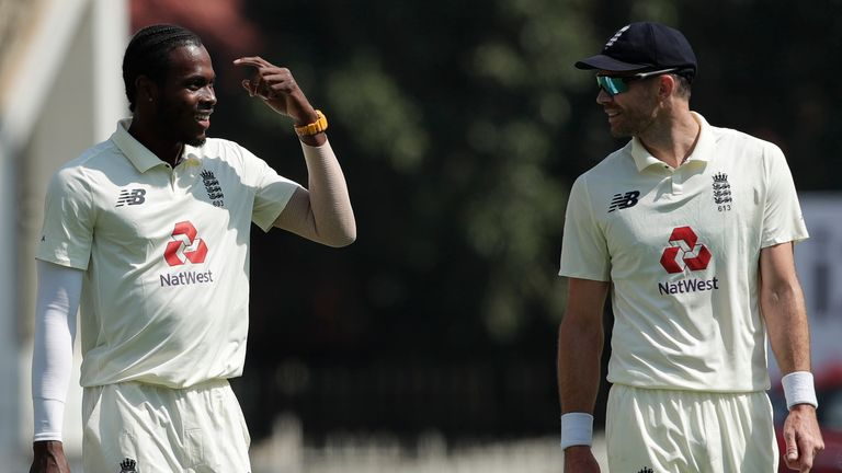 Jofra Archer and James Anderson picked up two wickets apiece in India's first innings (Pic credit - BCCI)
