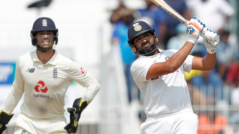 Rohit Sharma showed it was possible to score runs on a very challenging Chennai pitch (Pic credit - BCCI)