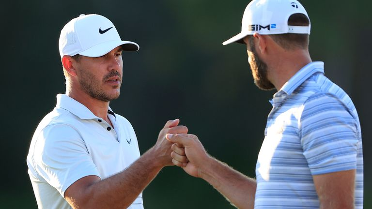 Koepka was playing alongside Dustin Johnson, who carded a second-round 69