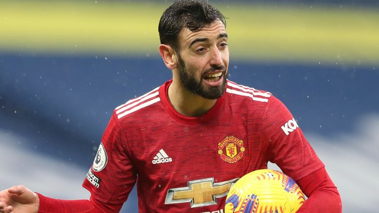 Bruno Fernandes scored a stunning volley, but Man Utd were held to a 1-1 draw by WBA
