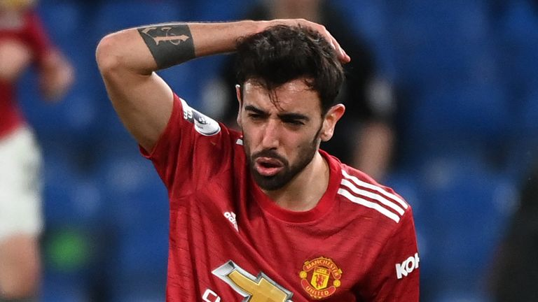 Bruno Fernandes rues a missed opportunity at Stamford Bridge
