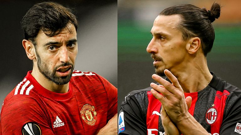 Bruno Fernandes and Zlatan Ibrahimovic