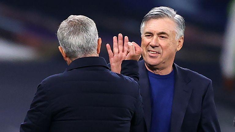PA - Ancelotti and Mourinho