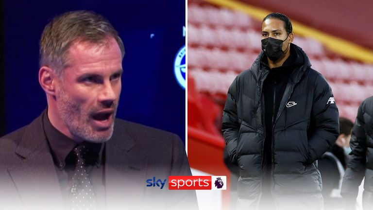 MNF: JAmie Carragher thinks Liverpool should be winning despite Virgil van Dijk's long term injury
