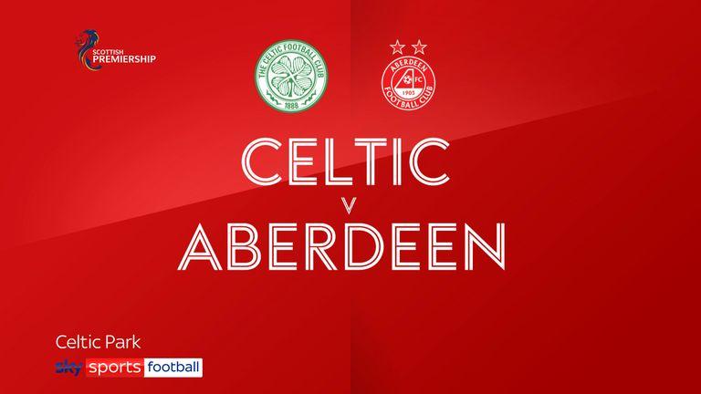 Celtic v Aberdeen badge