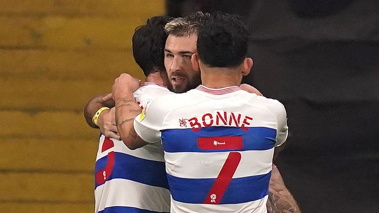 Charlie Austin scored his 50th goal for QPR in the 2-1 win over Watford at Vicarage Road.