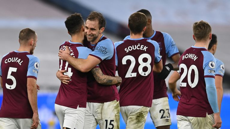West Ham moved up to fourth in the table following their win on Monday