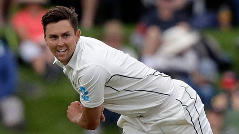 New Zealand's Trent Boult took six wickets when England were rolled for just 58 in the day-night Test at Auckland in 2018