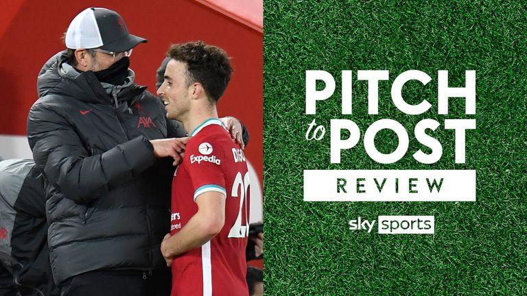 Diogo Jota Jurgen Klopp Pitch to post Liverpool