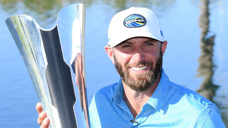 Dustin Johnson's victory at the Saudi International is his ninth European Tour title