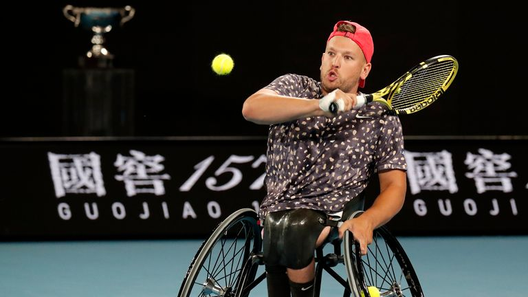 Dylan Alcott made it a magnificent seven (AP Photo/Lee Jin-man)