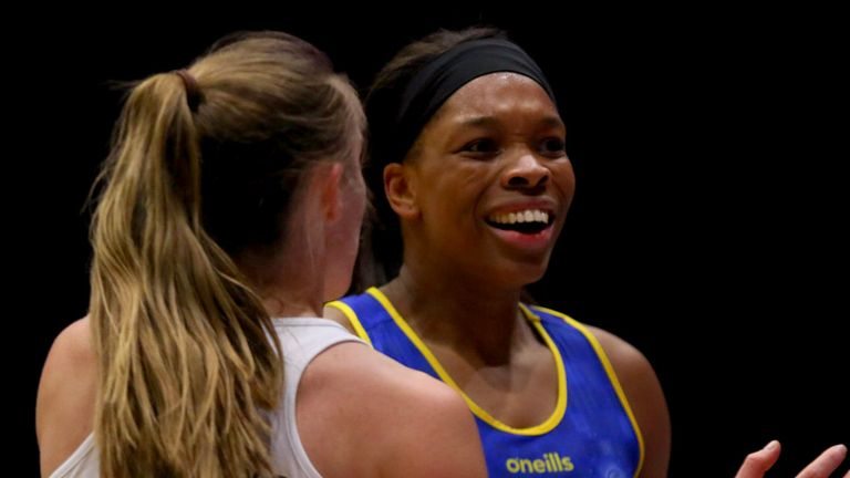 New mother Eboni Usoro-Brown is back on court with Team Bath Netball (Credit - Ben Lumley Photography)