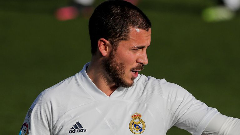 Real Madrid forward Eden Hazard (AP image)