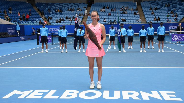 Elise Mertens sealed the sixth WTA title of her career