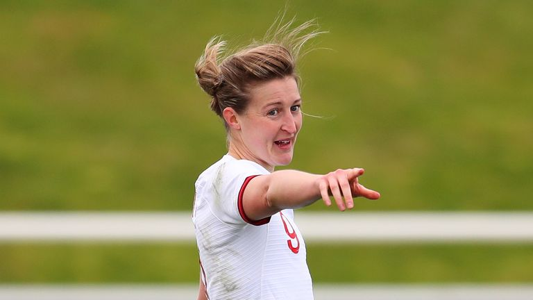 Ellen White of England during the Women's International Friendly at St Georges Park, Burton upon Trent, Staffordshire. Picture date: Tuesday February 23, 2021.