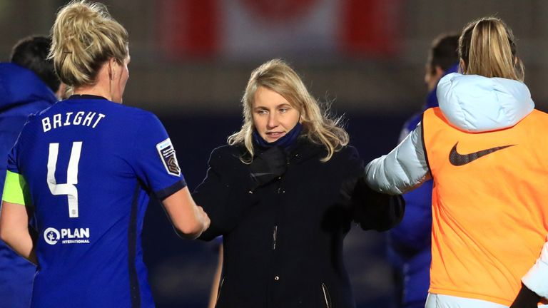 Emma Hayes coached Chelsea to their 6-0 win