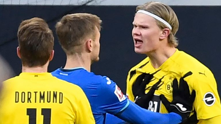 Erling Haaland scored for Dortmund, but there was controversy during the build-up