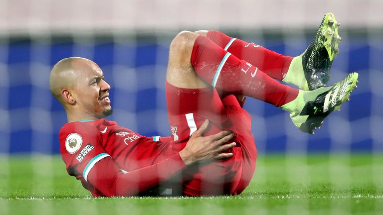 Fabinho has missed five Premier League games with injury so far this season