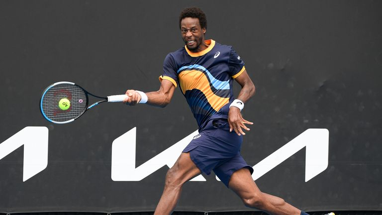 Monfils received a standing ovation for his display on Court Suzanne Lenglen