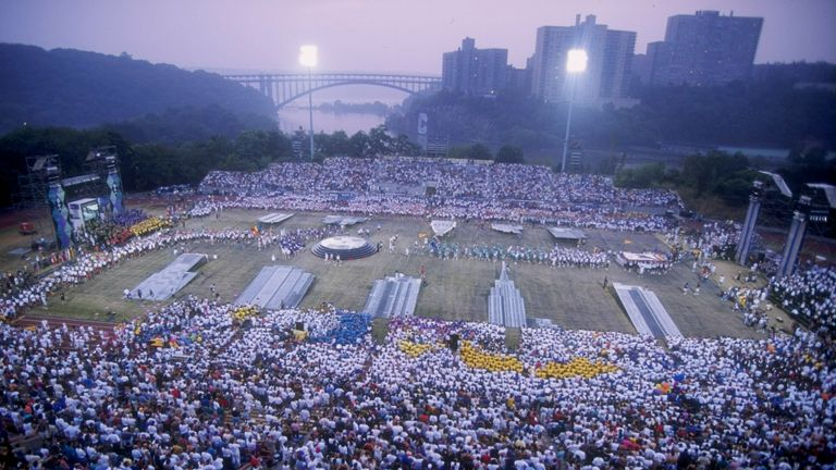 Gay Games 18 Jun 1994: General view of the Opening Ceremony for the Gay Games in New York City, New York.