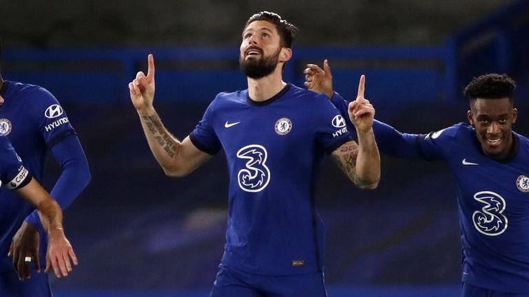 Substitute Olivier Giroud put Chelsea ahead