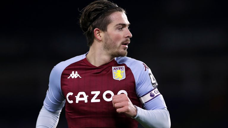 Jack Grealish missed Aston Villa's defeat to Leicester on Sunday