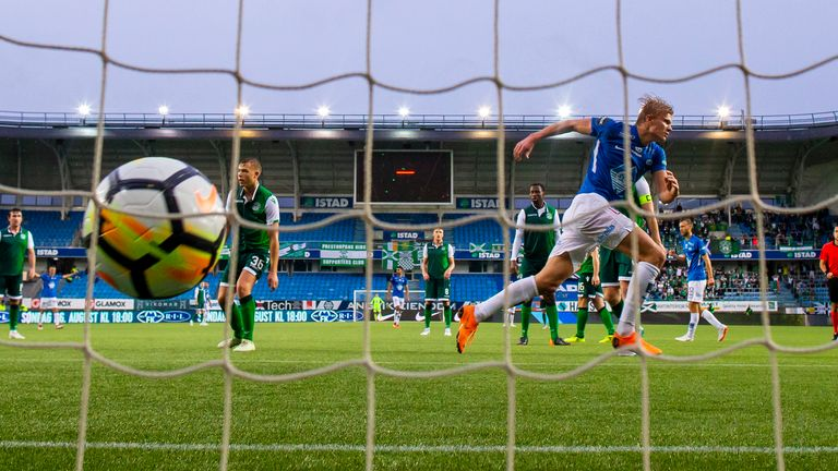 Haaland scored 16 goals in all competitions for Molde during the 2018 season