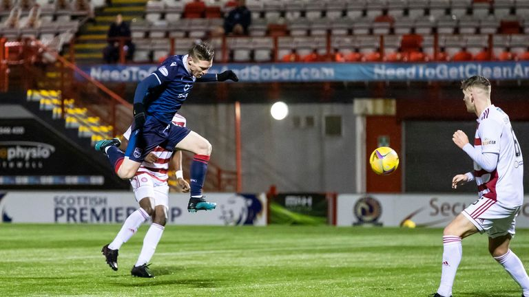 Billy McKay volleys home the winner for Ross County at Hamilton