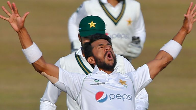 Pakistan fast bowler Hasan Ali struck twice in as many balls as the hosts reduced South Africa to 106-4 in Rawalpindi