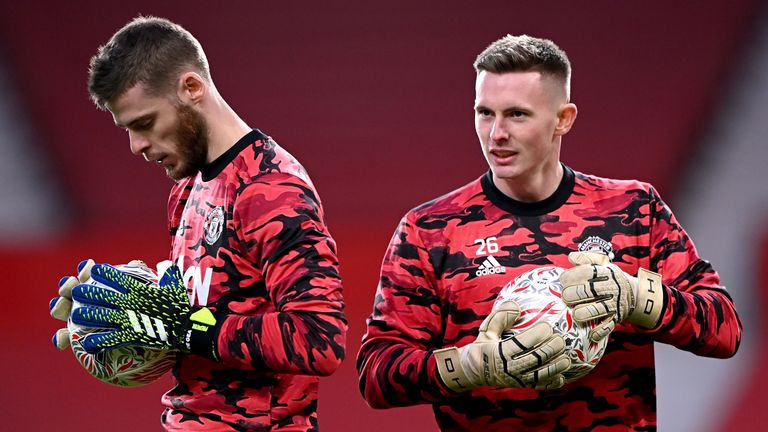 Henderson and David De Gea are competing to be Manchester United's number one