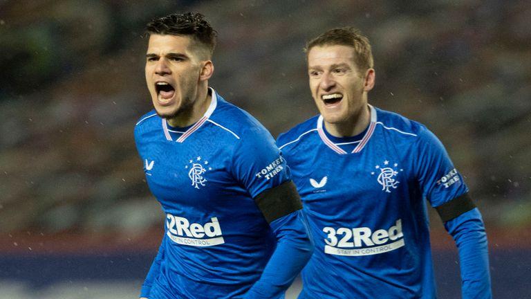 Rangers' Ianis Hagi celebrates making it 1-0