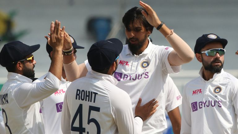 Ishant Sharma dismissed Rory Burns from the third ball of England's first innings (Pic credit - BCCI)