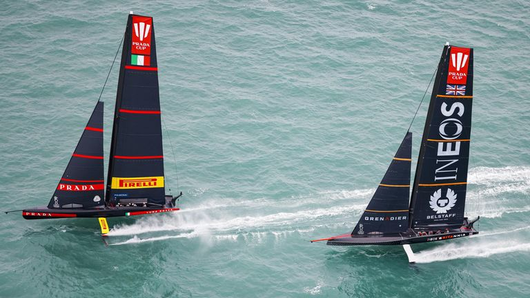 Luna Rossa Prada Pirelli maintained their hold on the PRADA Cup final with two more victories (Image - COR 36 | Studio Borlenghi)