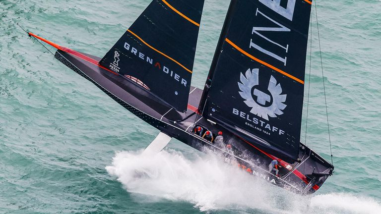 INEOS TEAM UK have work to do in order to claw back victories in the PRADA Cup Final (Image - COR 36 | Studio Borlenghi)
