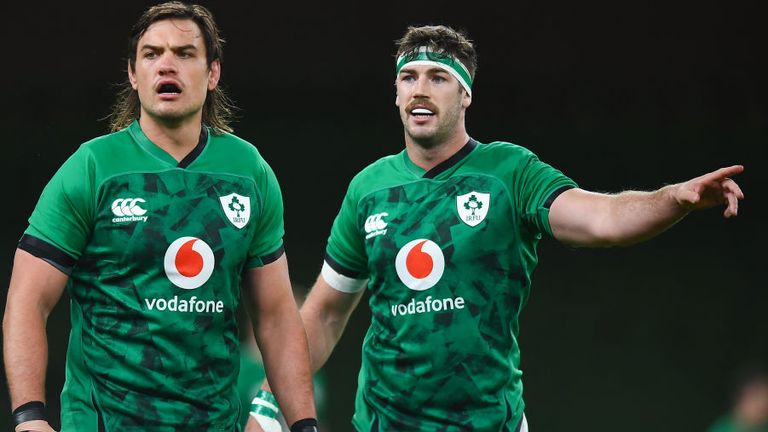 Quinn Roux (left) and Caelan Doris have both been ruled out injured for Sunday's clash with Wales in Cardiff