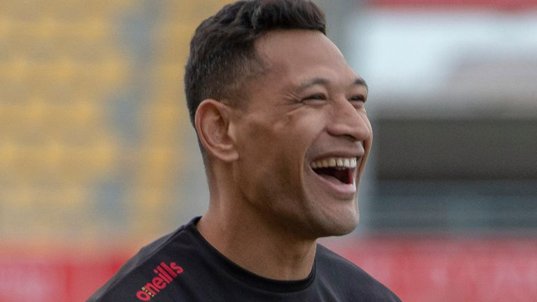 Israel Folau joined Catalans Dragons last year