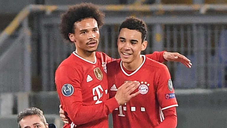 Bayern Munich's Jamal Musiala became the youngest Englishman to score in the Champions League with his goal against Lazio