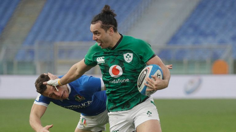 James Lowe was one of three Irish players to have tries ruled out on the day too