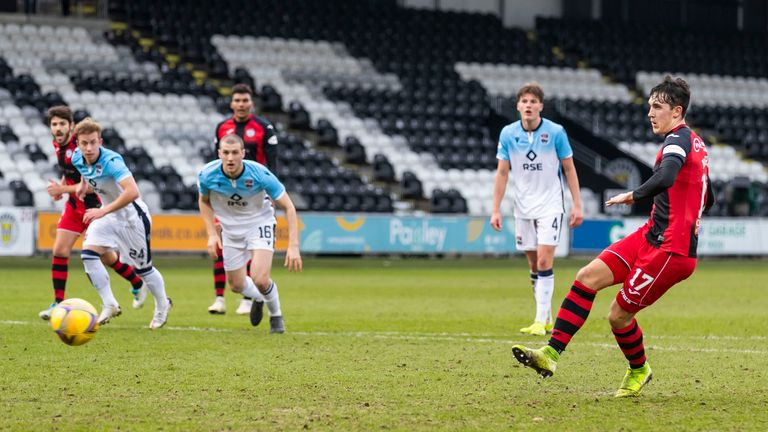 McGrath's penalty moved St Mirren four points clear of Dundee United, who were held to a draw by Kilmarnock