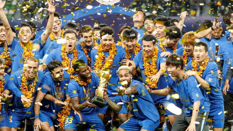 Jiangsu Suning won the Chinese Super League last November