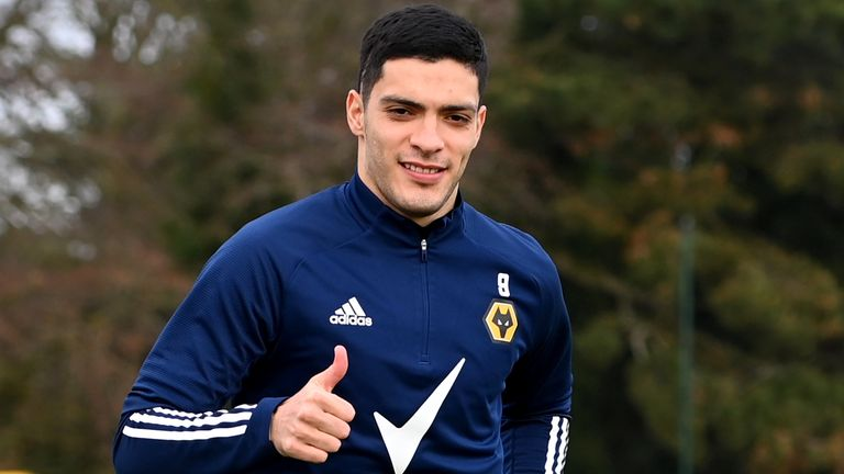 Raul Jimenez began light training with Wolves at the end of January