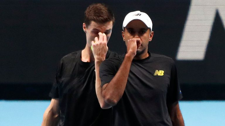 Joe Salisbury (left) and Rajeev Ram are through to the men's doubles final at the Australian Open