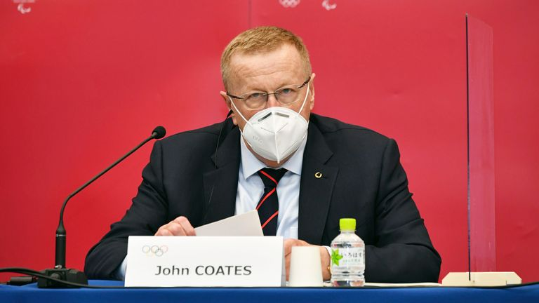 IOC vice president John Coates ruled out compulsory vaccinations ahead of the Games